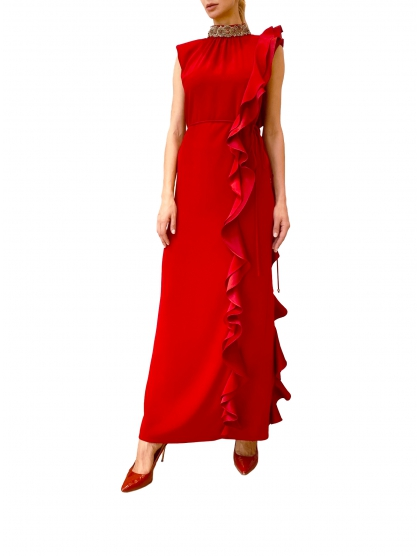 TAFETTA LONG DRESS