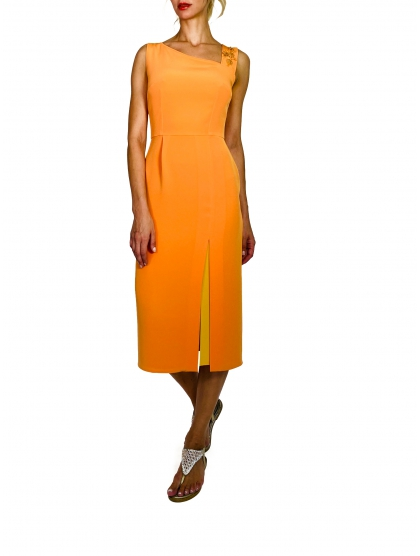 TECHNICAL CADY ASYMMETRIC DRESS