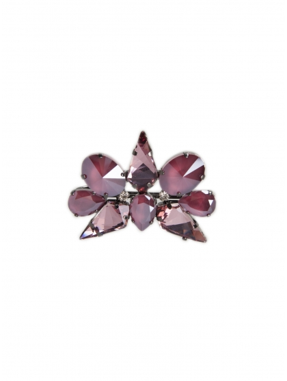 STAR FLOWER OVAL BROOCH