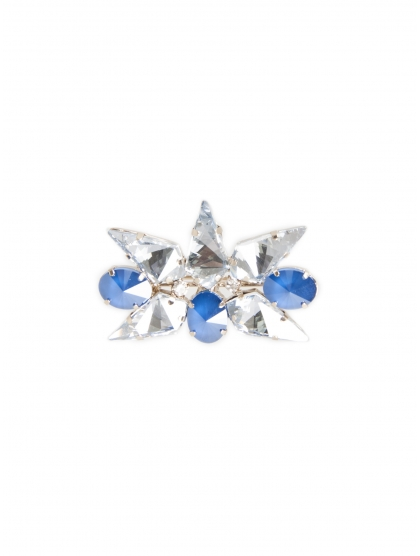 STAR FLOWER TEARDROP BROOCH