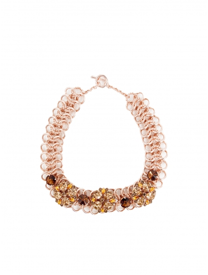 COLLAR CRYSTAL FLOR ROSE
