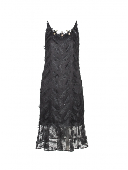 FEATHER AND CRYSTAL DRESS